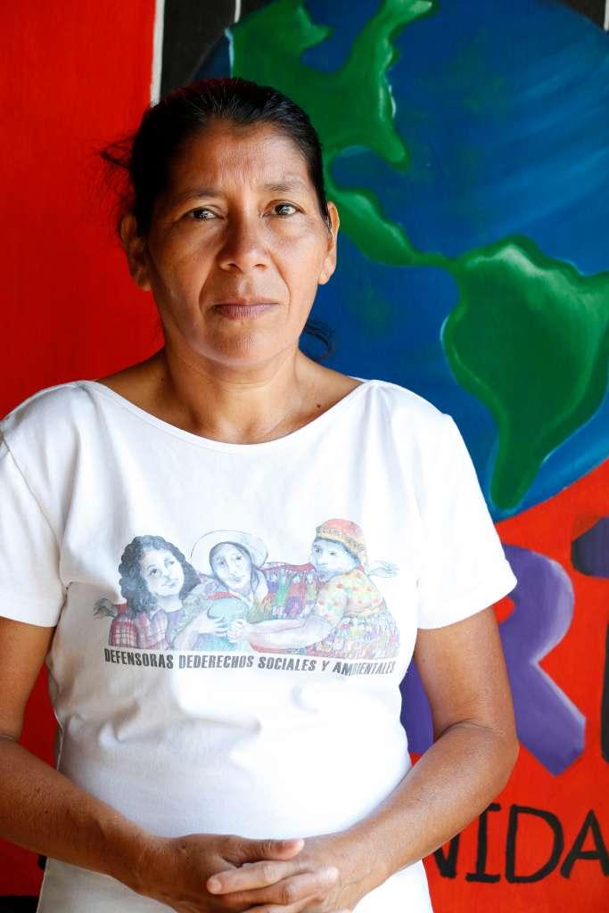 Vidalina Morales, presidente de la Asociación de Desarrollo Económico Social Santa Marta. (Photo Aurelia Ventura/ La Opinion)