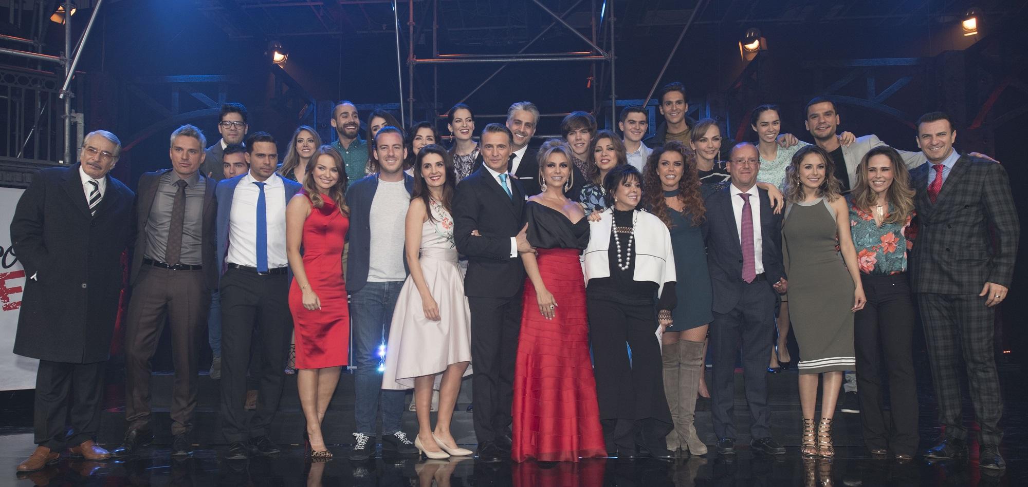 "El elenco de la telenovela ""Me declaro culpable"""