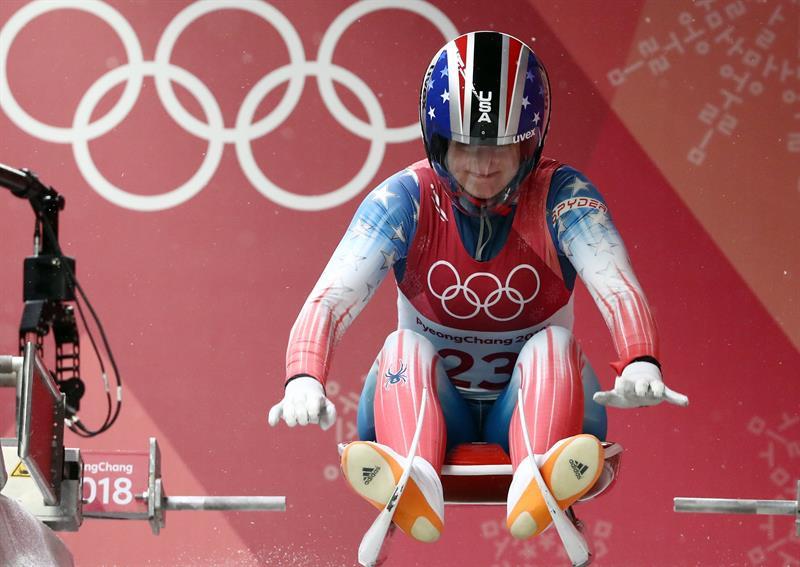 Emily Sweeney, deportista de EEUU en la modalidad de trineo
