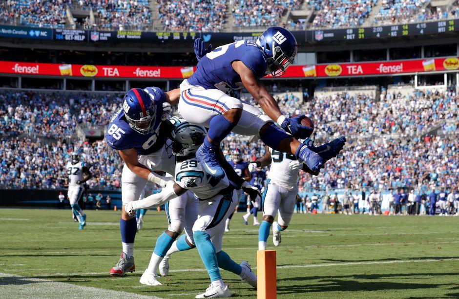 Saquon Barkley, fabuloso corredor novato de los Giants.