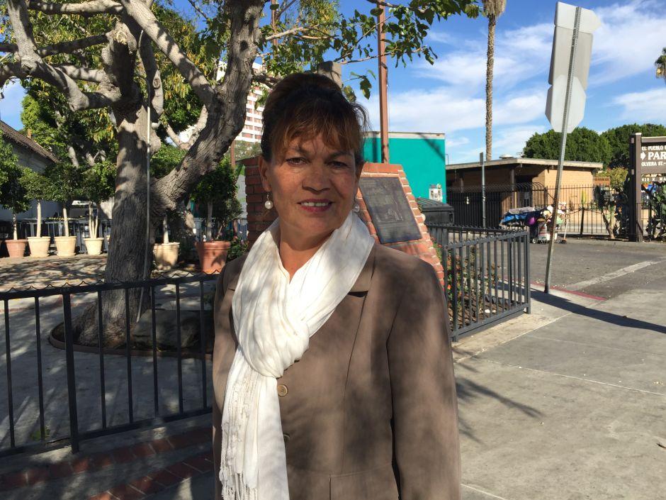 La líder de Durango, Alvaviola García dice que en su estado de origen, el programa 3x1 ha hecho una diferencia en las vidas de las comunidades más pobres. (Araceli Martínez/La Opinión).