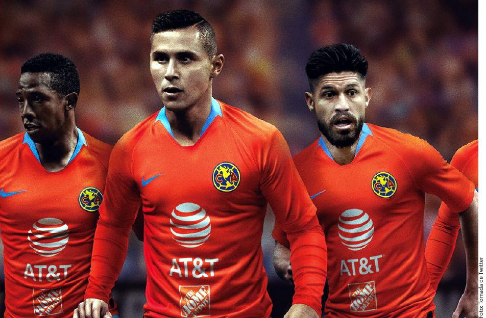 La playera naranja es parte del tercer uniforme de las Águilas del América