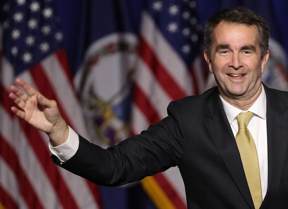 FAIRFAX, VA - NOVEMBER 07: Ralph Northam, the Democratic candidate for governor of Virginia, greets supporters at an election night rally November 7, 2017 in Fairfax, Virginia. Northam defeated Republican candidate Ed Gillespie. (Photo by Win McNamee/Getty Images)