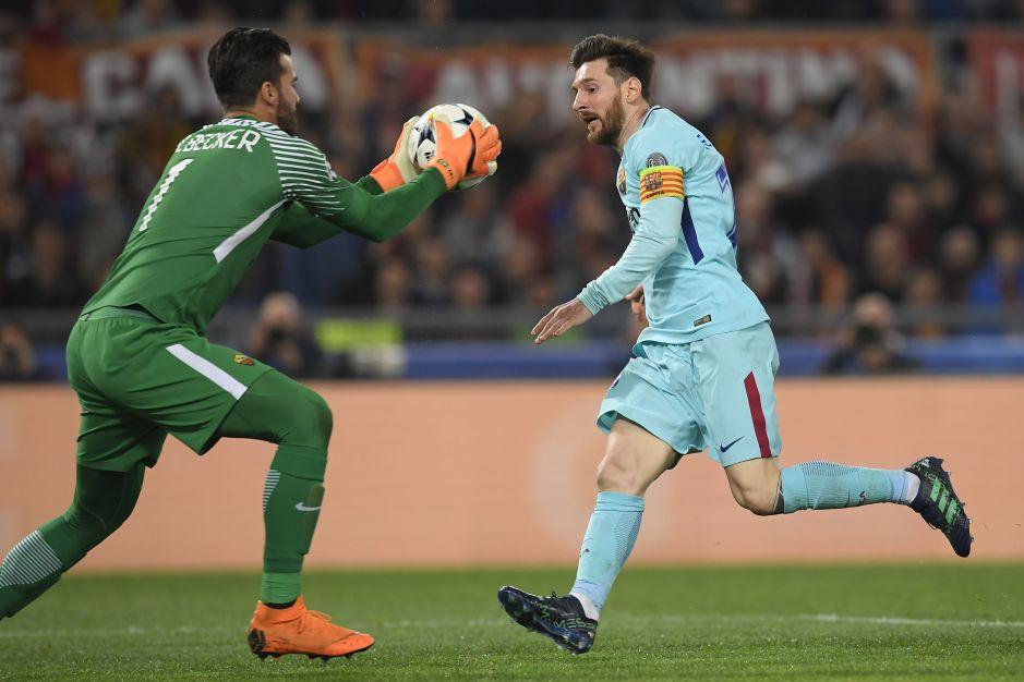 Becker vs Messi en Champions League 2017 - 2018.