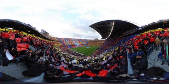 Panorámica del Camp Nou.
