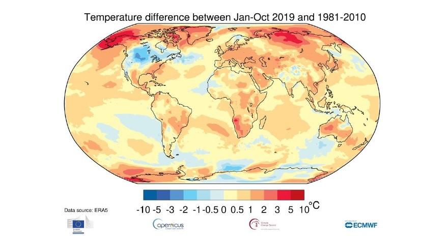 Más calor en el mundo