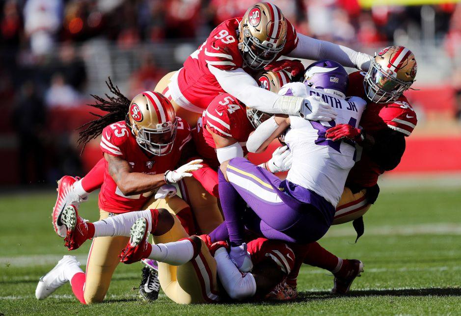 La brutal defensa de los 49ers. /EFE