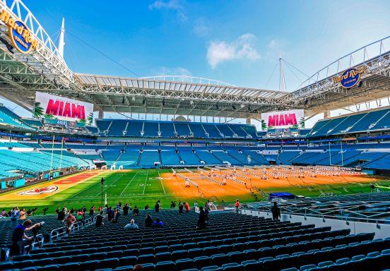 El Hard Rock Stadium está listo para el Super Bowl.