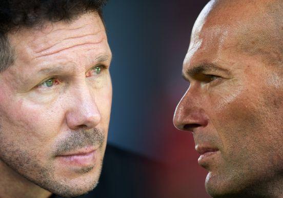 Diego Simeone y Zinedine Zidane, un clásico duelo en el banquillo español.