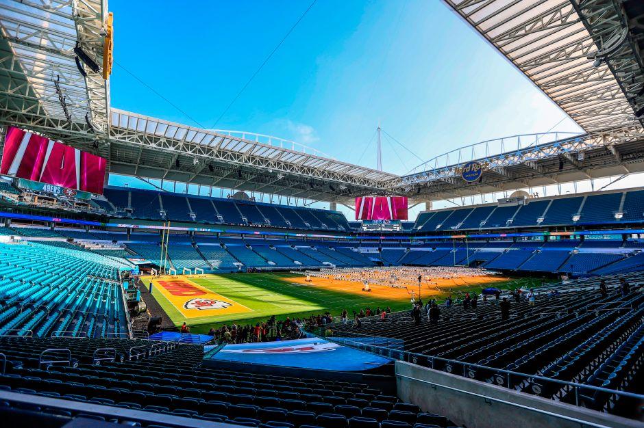 El Hard Rock Stadium de Miami, listo.El Hard Rock Stadium de Miami, listo.