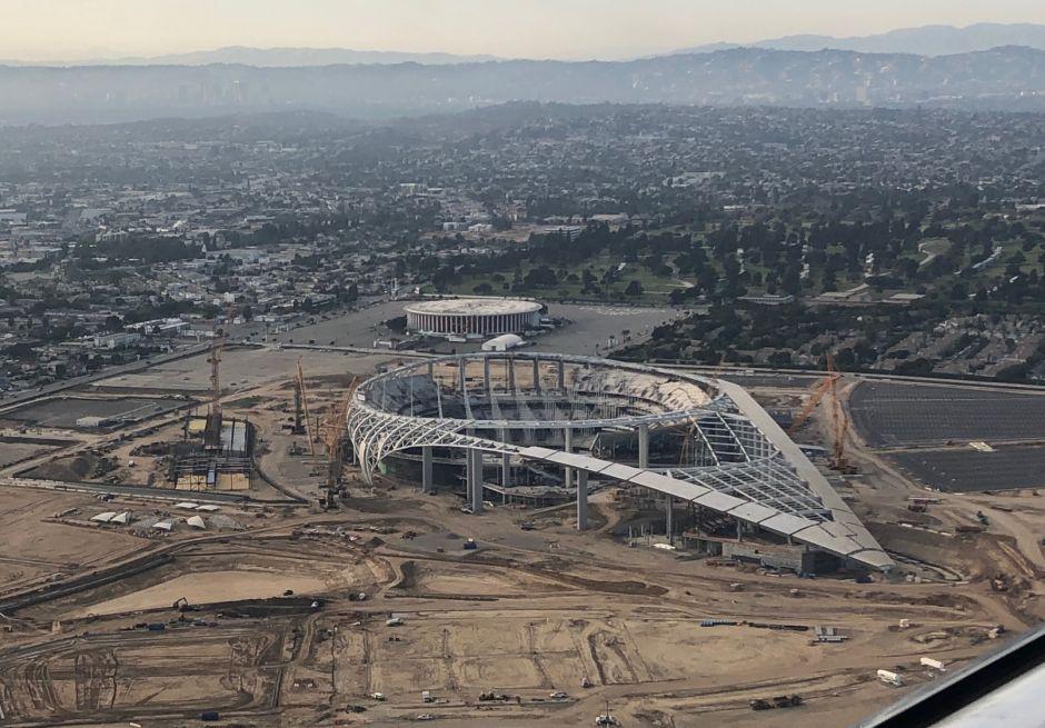 Las obras del SoFi Stadium en Inglewood. /Ricardo López