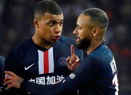 Kylian Mbappé y Neymar