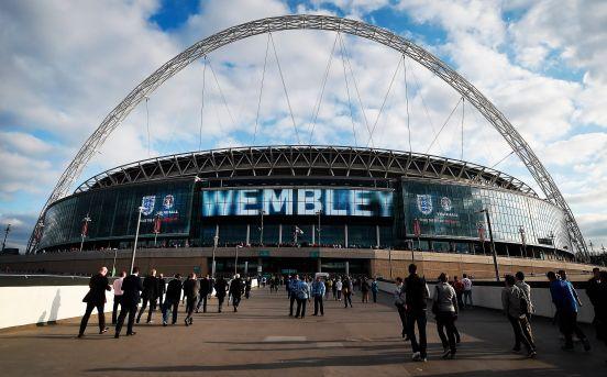 El Estadio de Wembley donde se jugaría la final de la Euro.