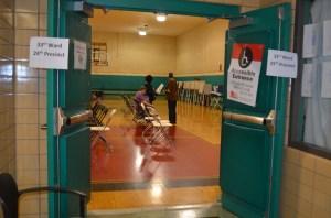 Uno de los precintos de votación en Chicago.